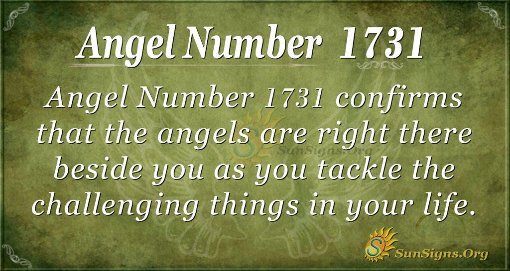 Angel Number 1731