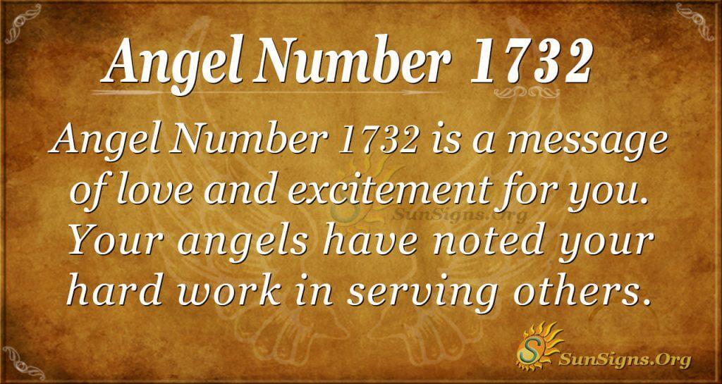 Angel Number 1732