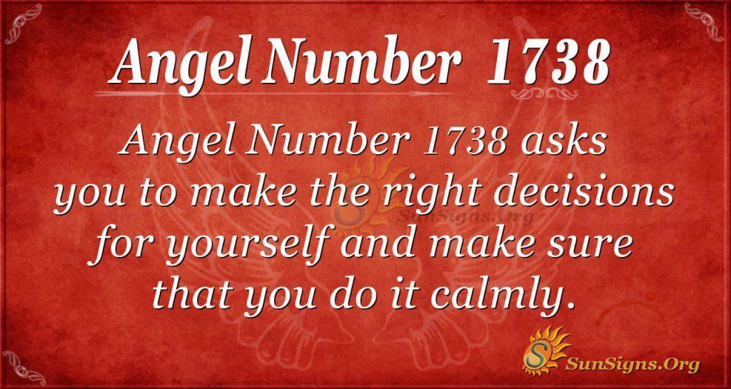 Angel Number 1738