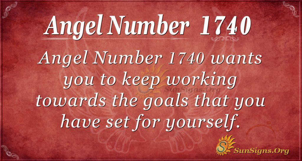 Angel Number 1740