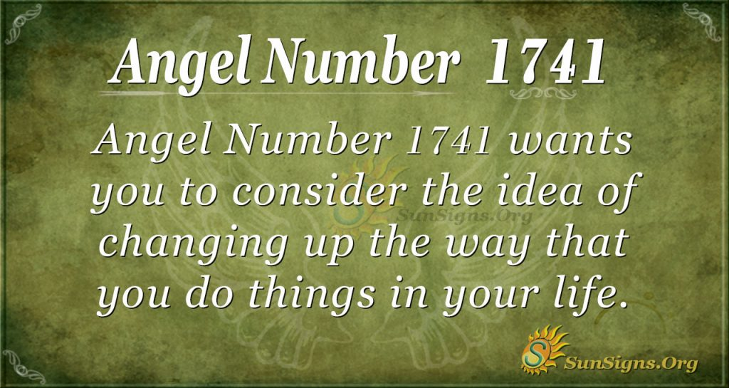 Angel Number 1741