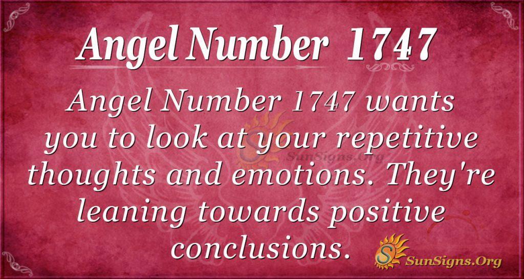 Angel Number1747