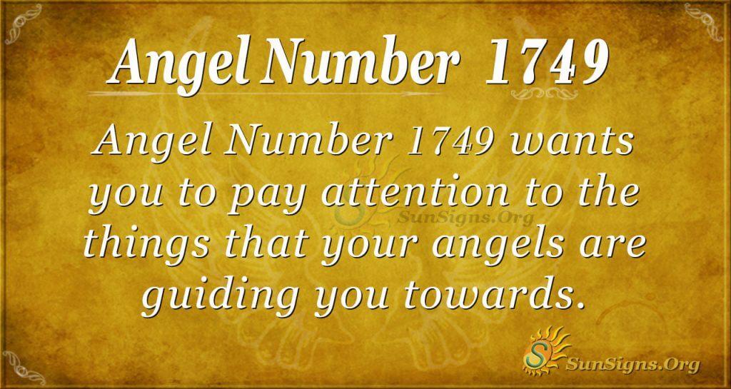 Angel Number 1749