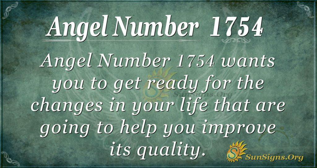 Angel Number 1754