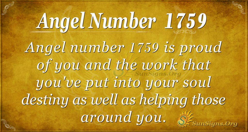 Angel Number 1759