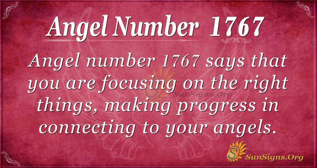 Angel Number 1767
