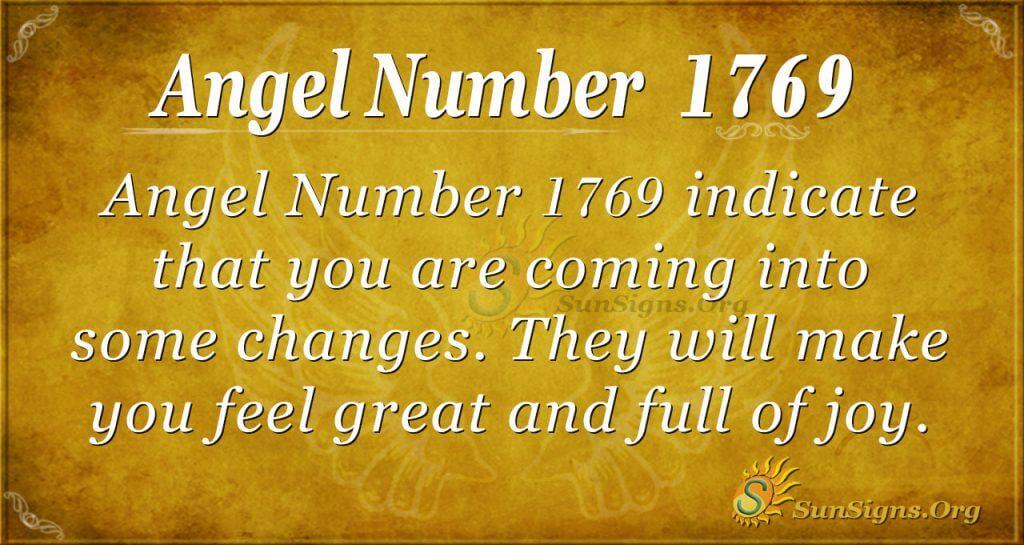 Angel Number 1769