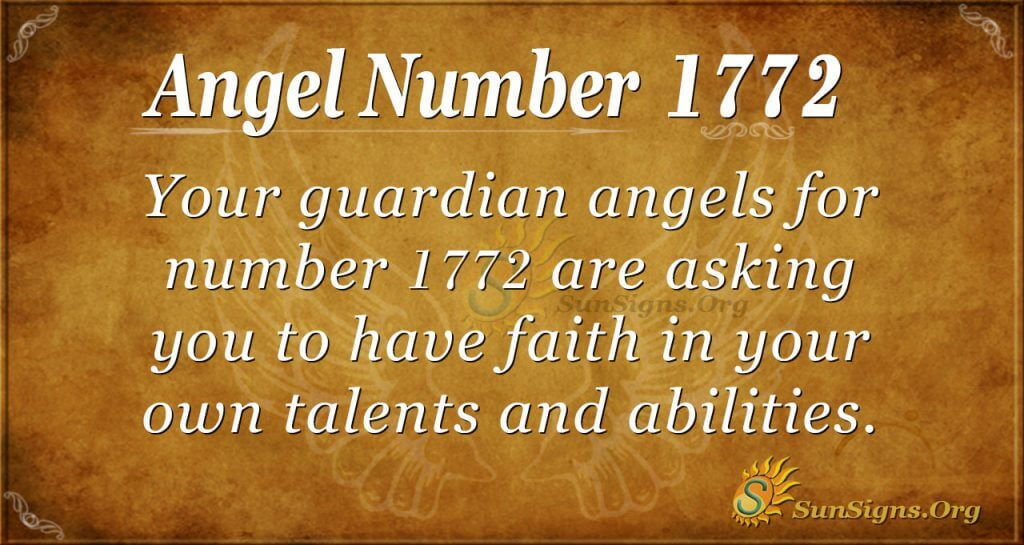 Angel Number 1772