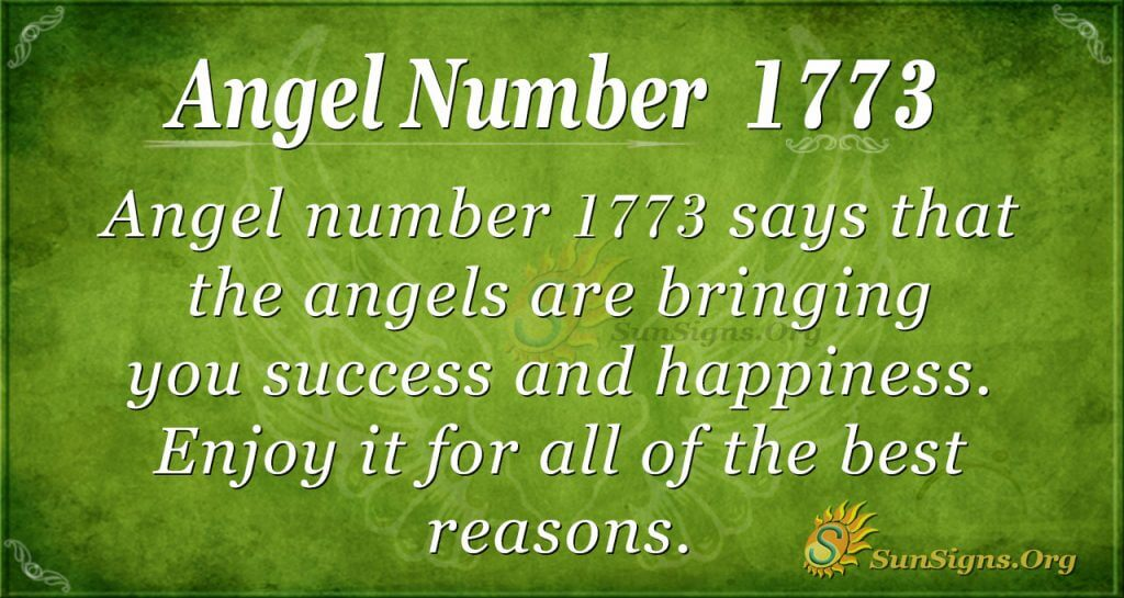 Angel Number 1773