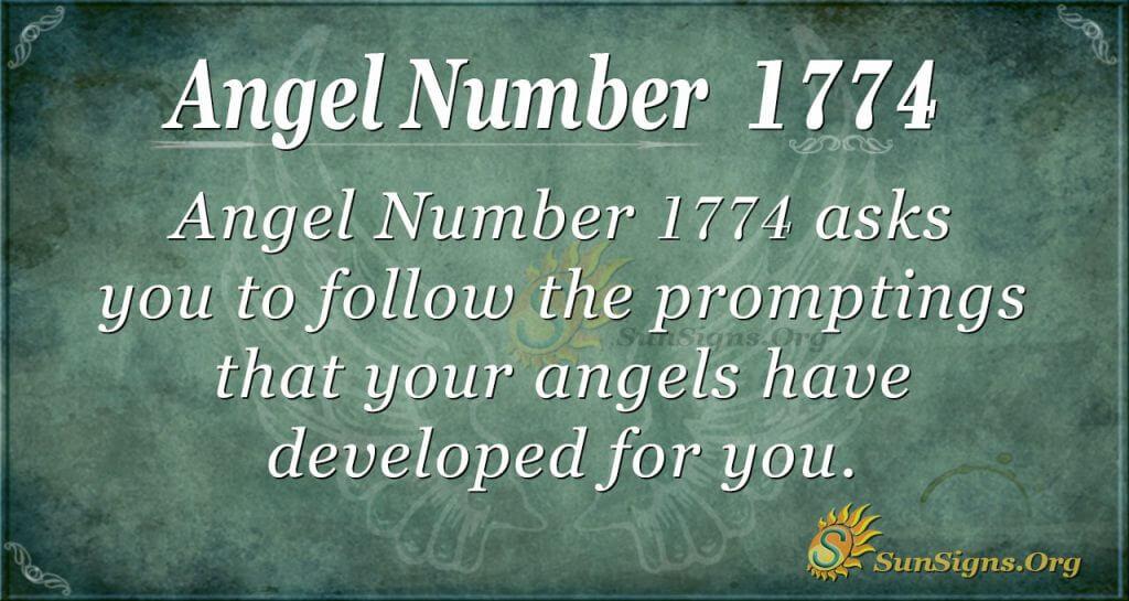 Angel Number 1774