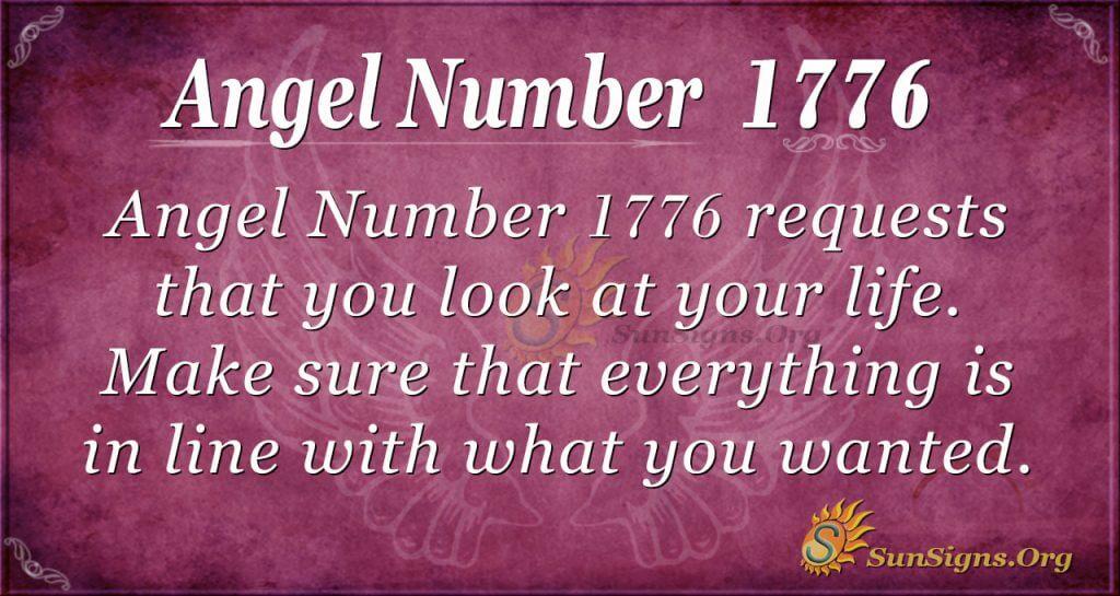 Angel number 1776