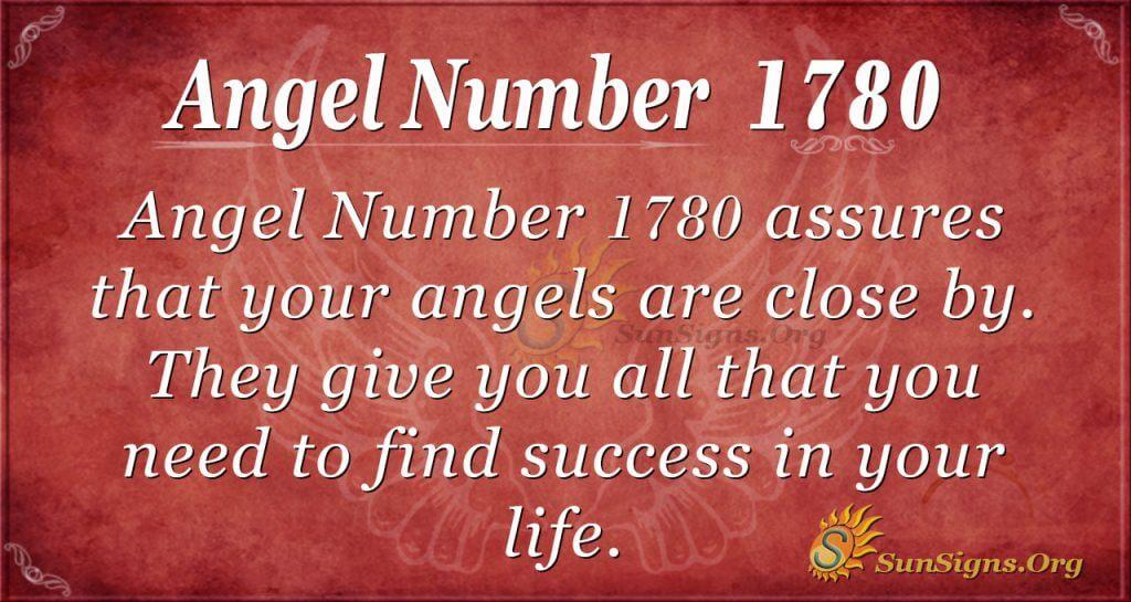 Angel Number 1780
