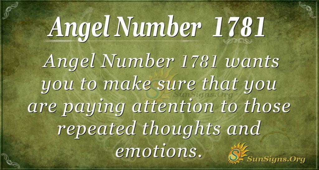 Angel Number 1781