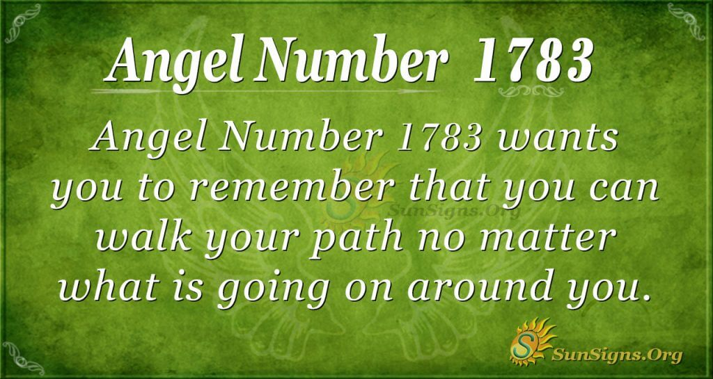 Angel Number 1783