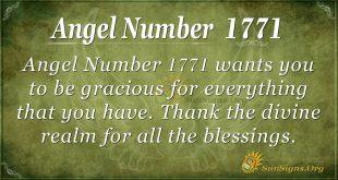 angel number 1771