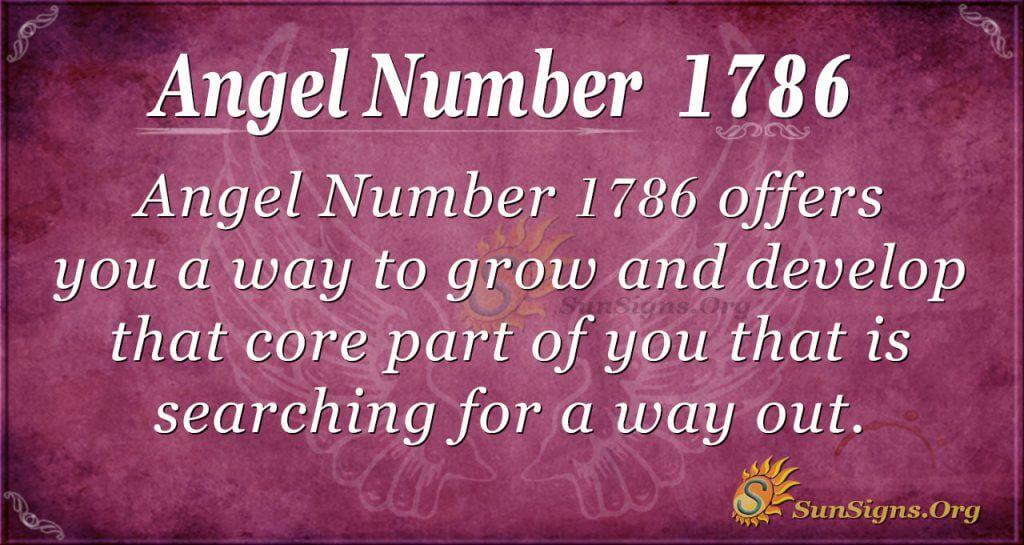 Angel Number 1786