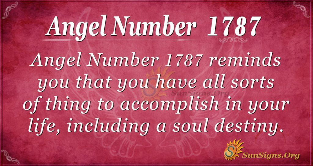 Angel Number 1787