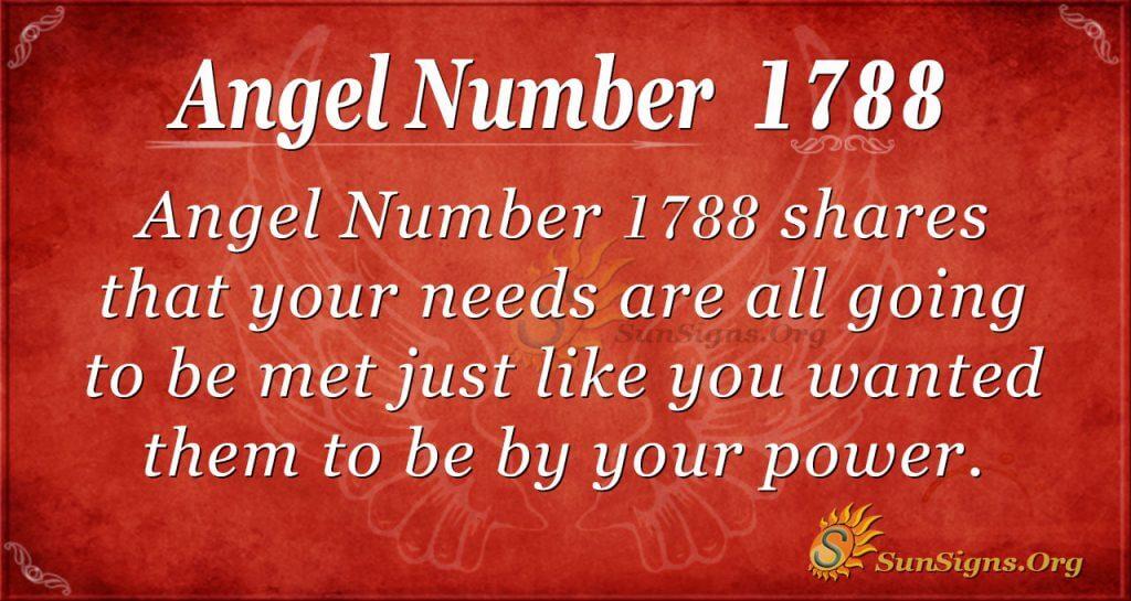 Angel Number 1788