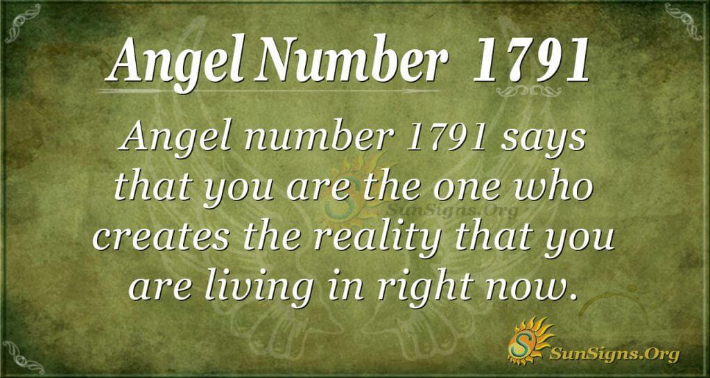 Angel Number 1791