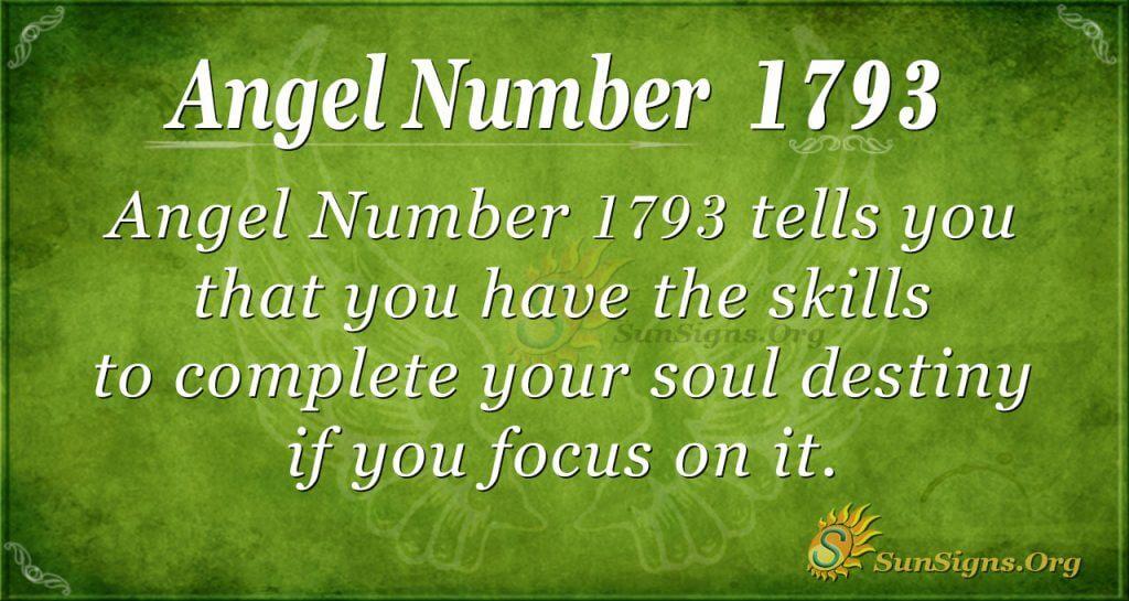 Angel Number 1793
