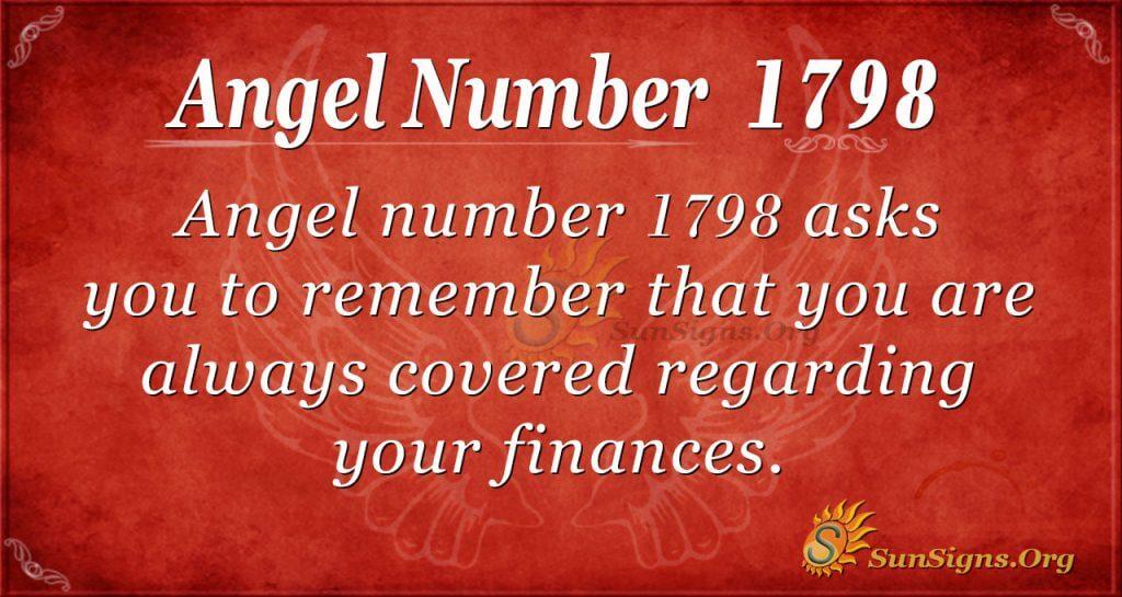 Angel number 1798