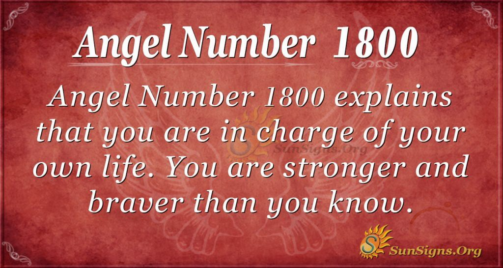 Angel Number 1800