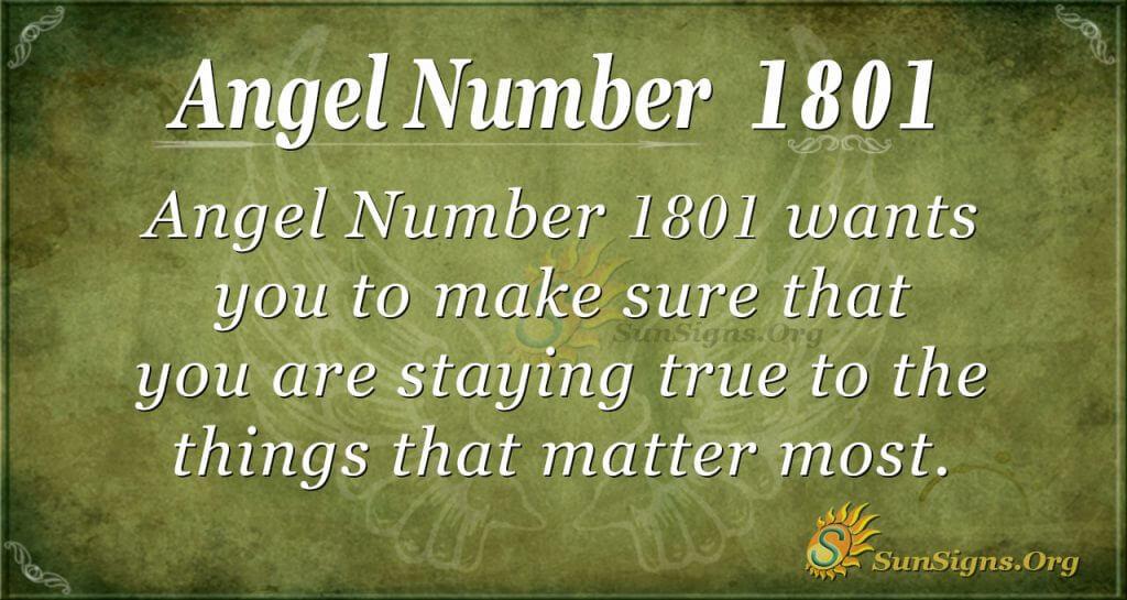 Angel Number 1801