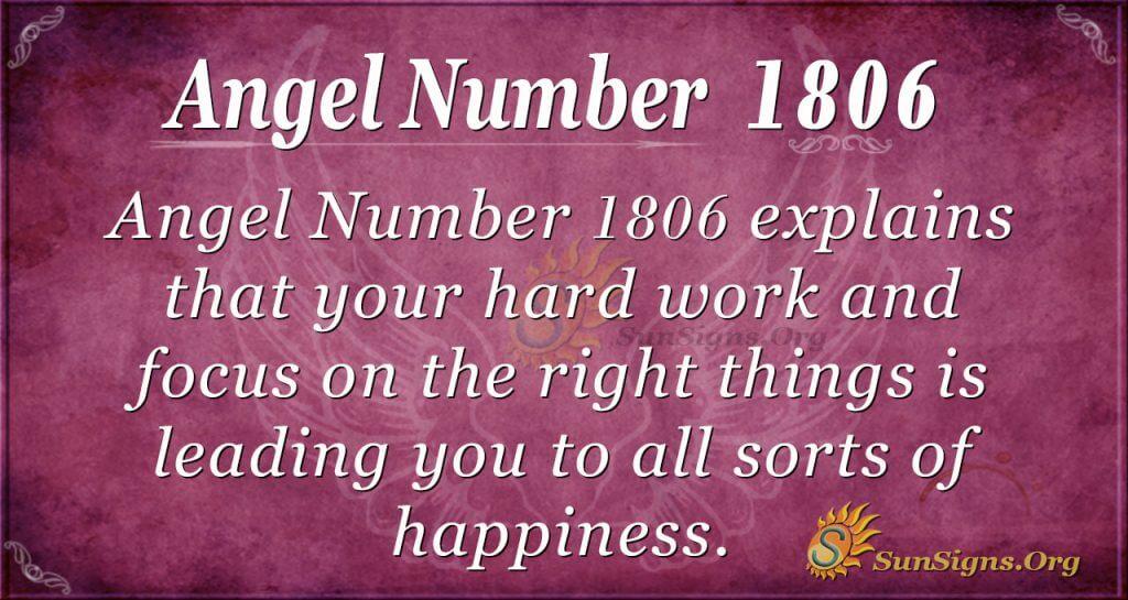 Angel Number 1806