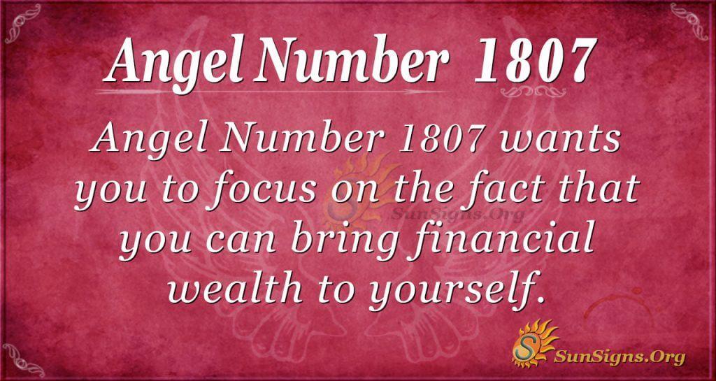 Angel Number 1807