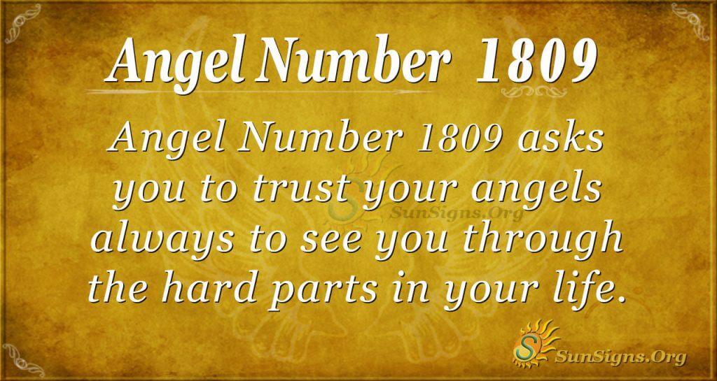 Angel Number 1809