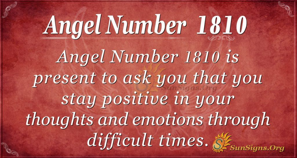 Angel Number 1810