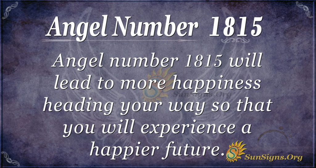 Angel Number 1815