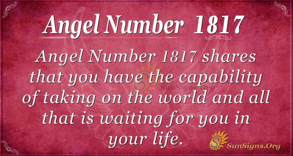 Angel Number 1817