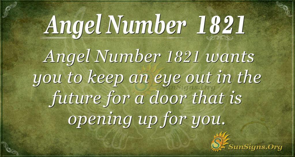 Angel Number 1821