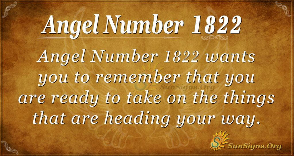 Angel Number 1822