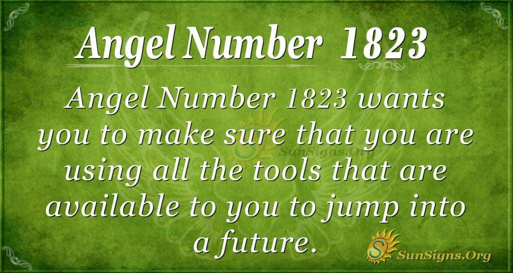 Angel Number 1823