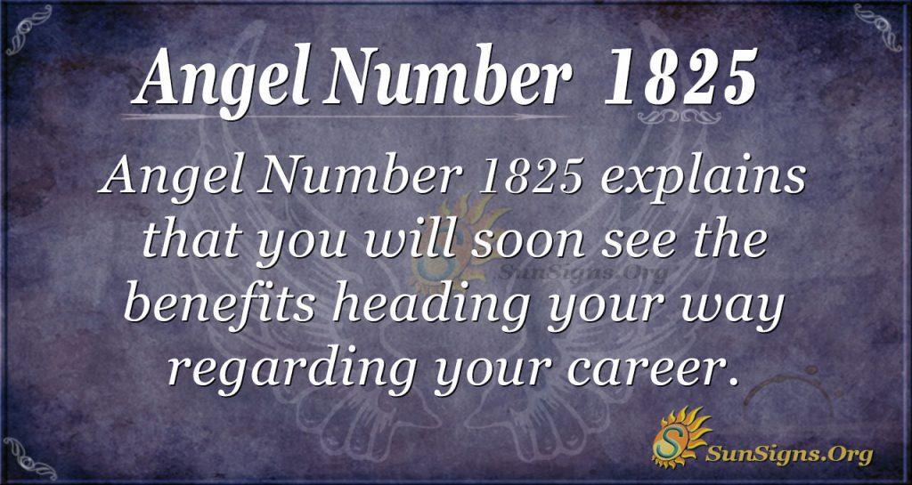 Angel Number 1825