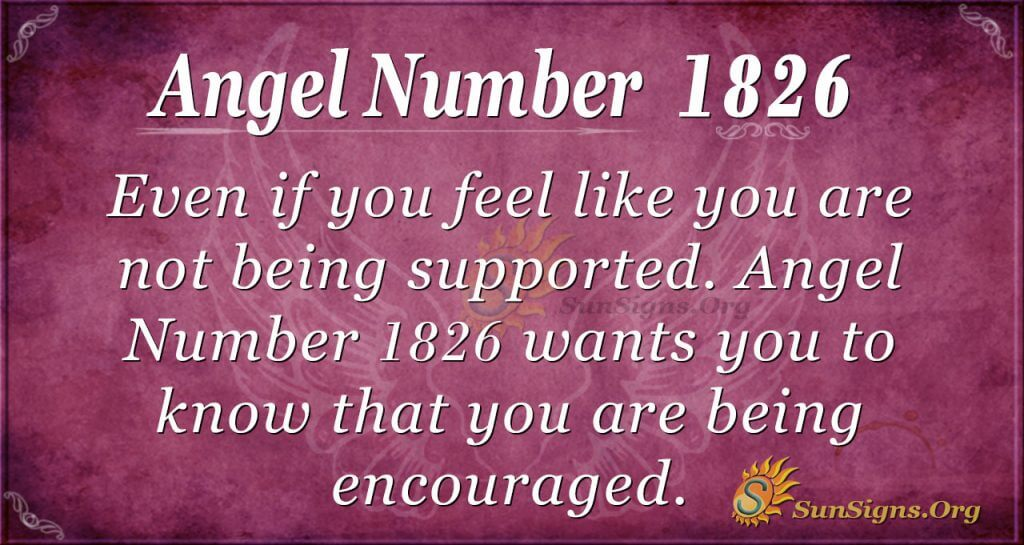 Angel Number 1826