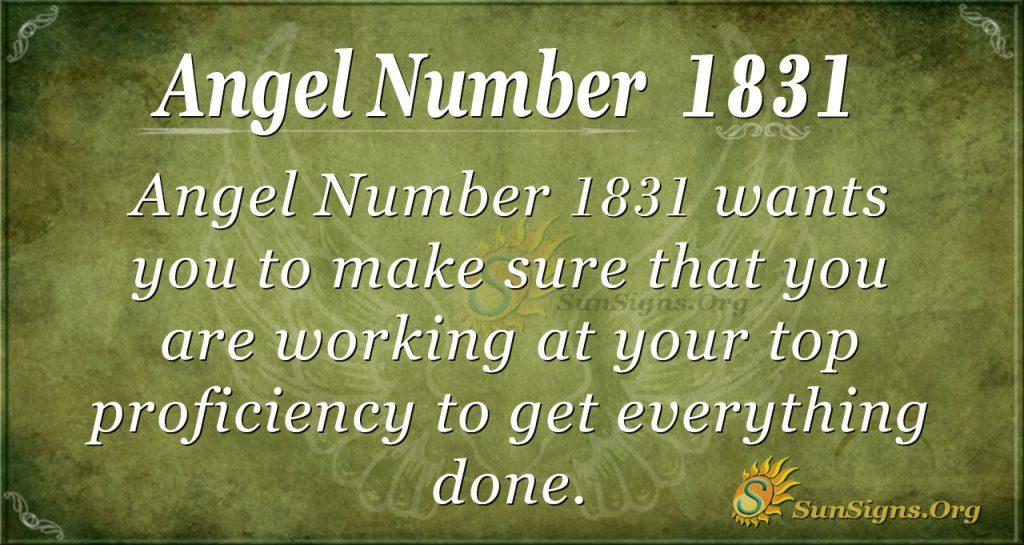 Angel Number 1831