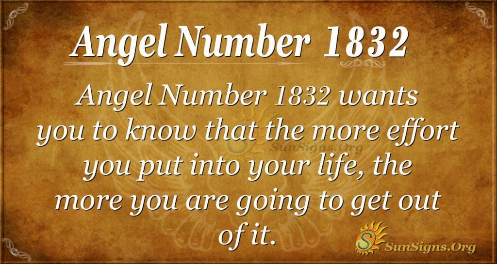 Angel Number 1832