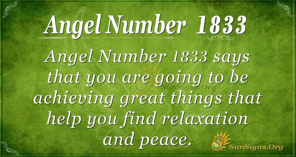 Angel Number 1833