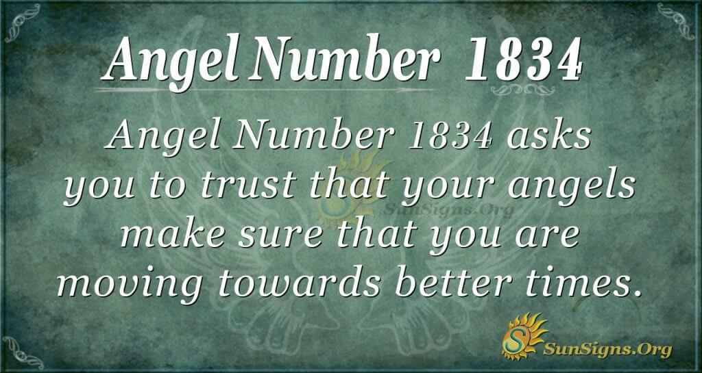 Angel number 1834