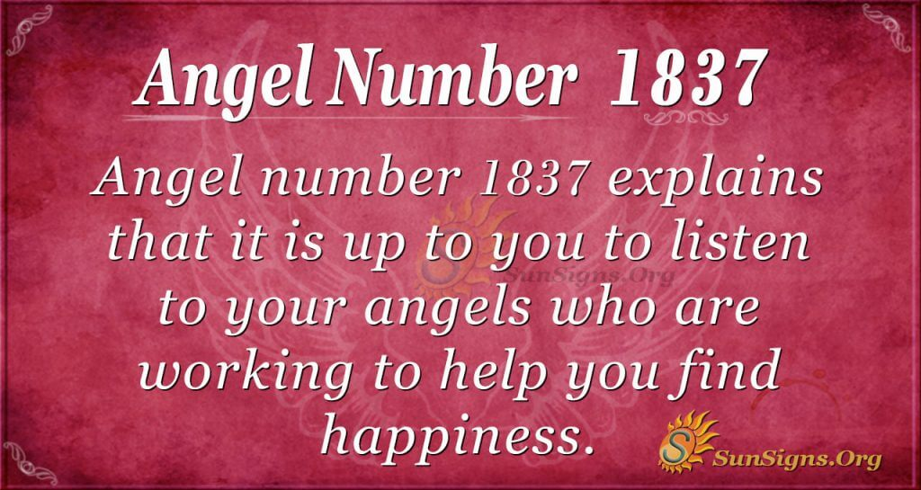 Angel Number 1837
