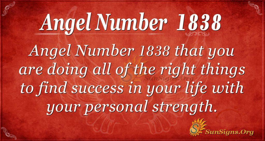 Angel Number 1838