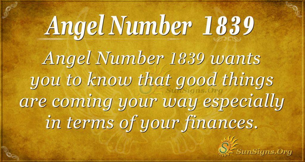 Angel Number 1839