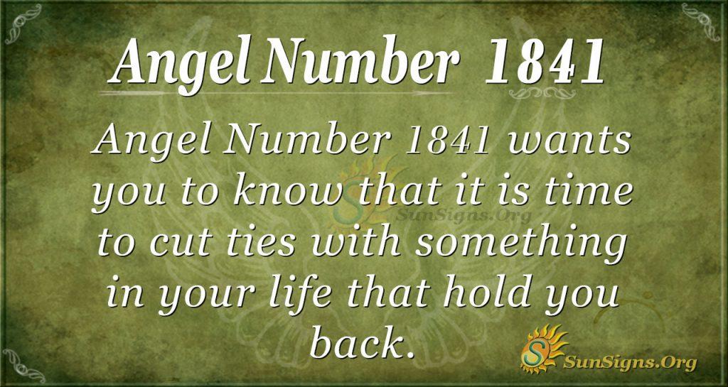 Angel Number 1841
