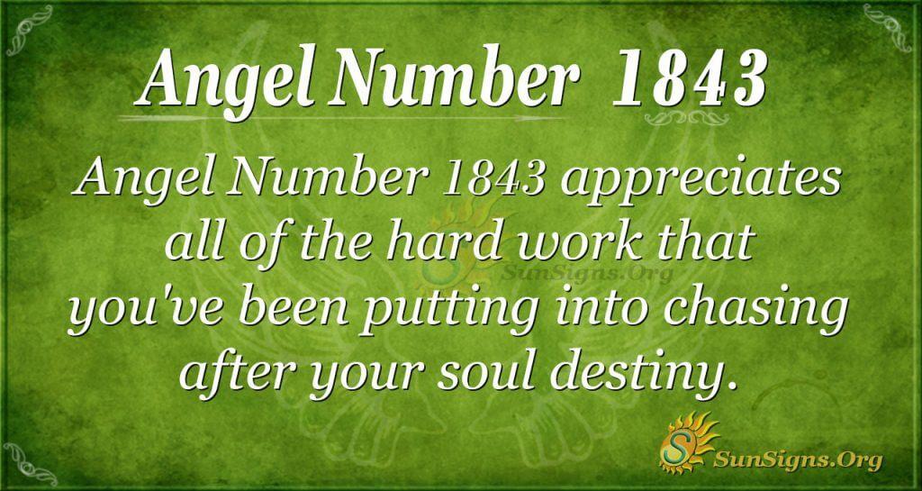 Angel Number 1843