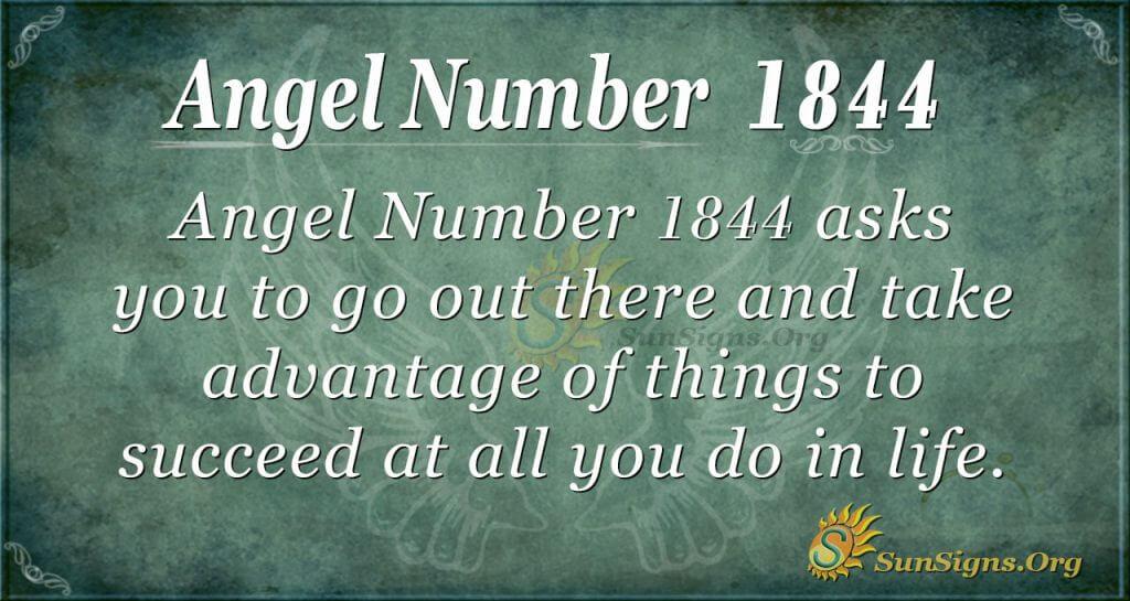 Angel Number 1844