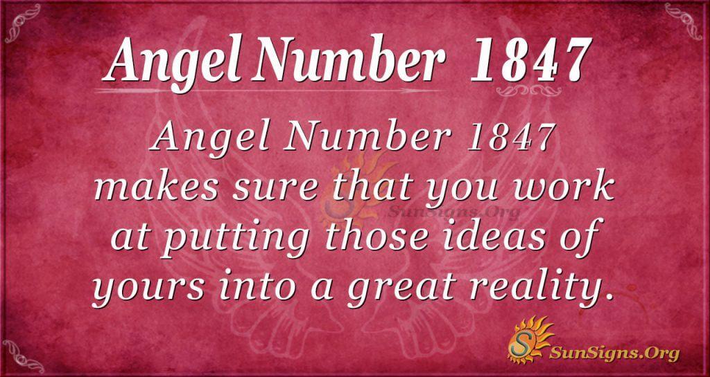Angel Number 1847