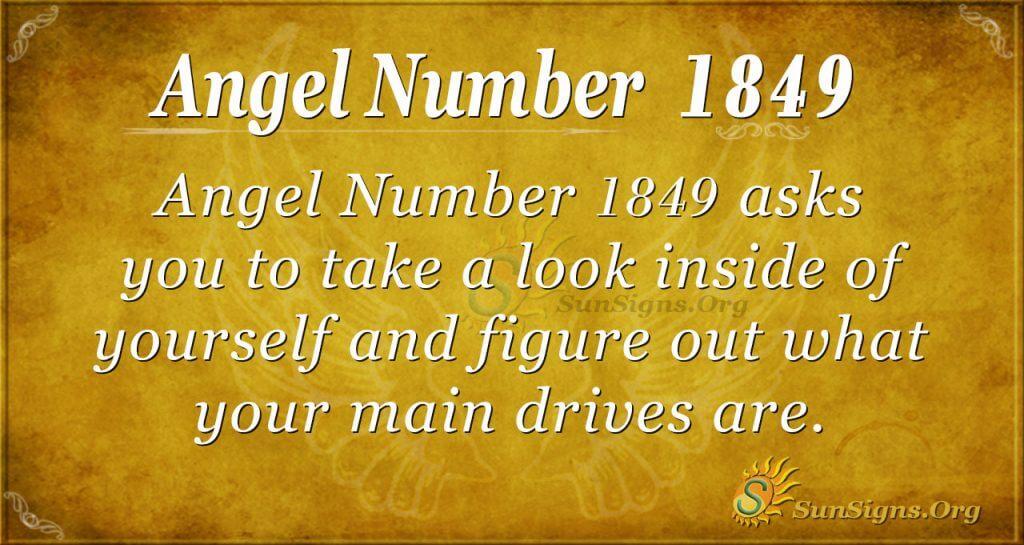 Angel Number 1849